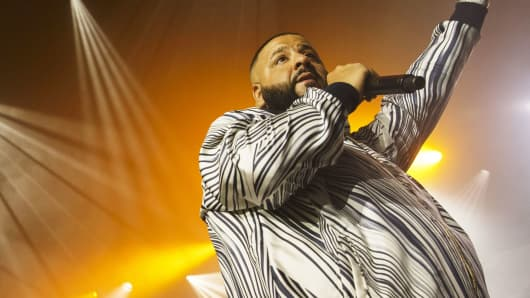 Musician DJ Khaled performing
