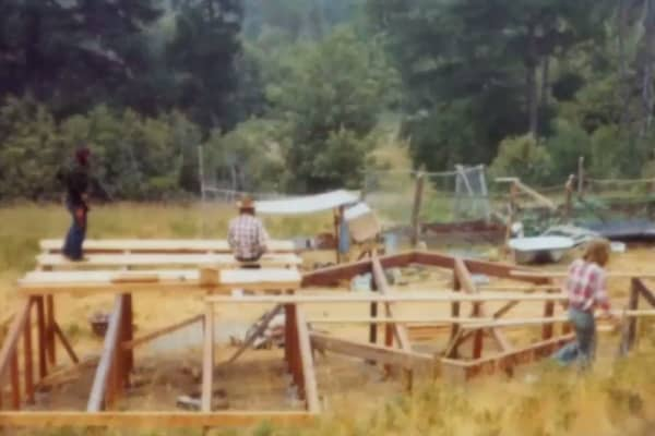 Foundation of the Hessler's home in 1971