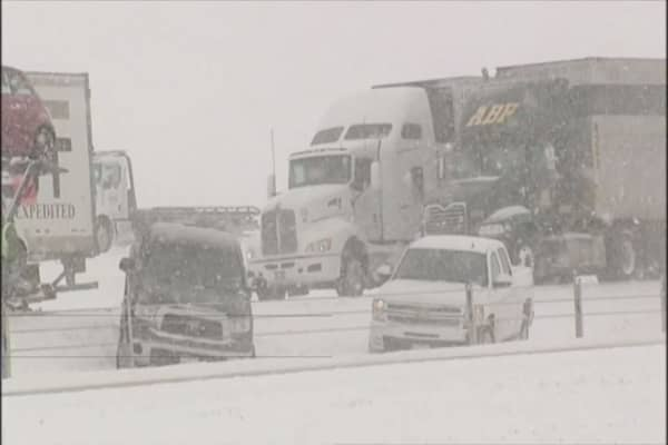 Deadly, bone-chilling cold grips a wide swath of the US