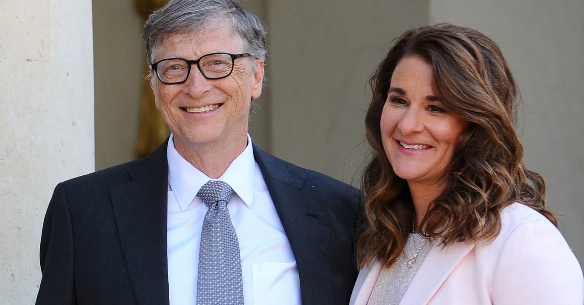 Bill and Melinda Gates in Paris last April.