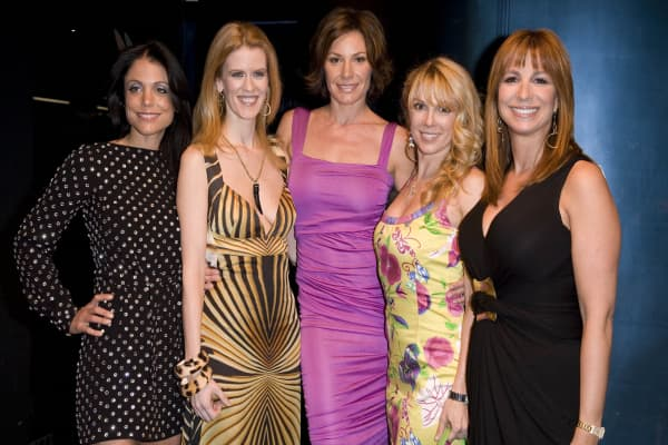 "Bethenny Frankel wearing the Marc Jacobs dress at a party for Bravo's ""The Real Housewives of New York City,"" on March 3, 2008."
