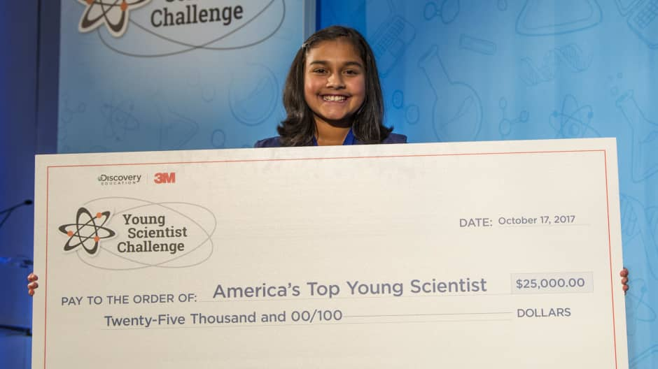 This 12-year-old won $25,000 for a science project that helps detect lead in water