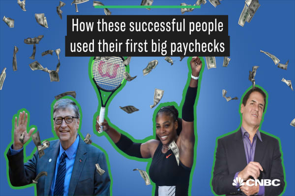 How Bill Gates, Serena Williams, Mark Cuban and other leaders used their first big paychecks