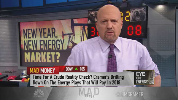 Cramer's top energy stock picks on rising oil