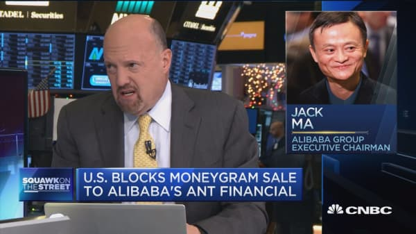 US blocks MoneyGram sale to Alibaba's Ant Financial