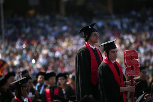 Graduating Stanford University students