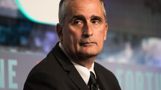 Brian Krzanich, chief executive officer of Intel Corp.