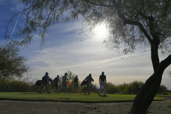 Golfers in Chandler, Arizona.