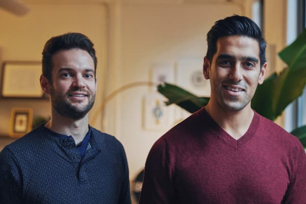Stephen Kuhl (left) and Kabeer Chopra (right), co-founders of Burrow.
