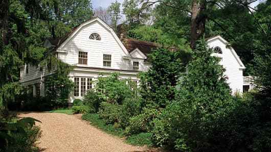 A file photo of President Bill Clinton and his wife Hillary's home in Chappaqua, New York.