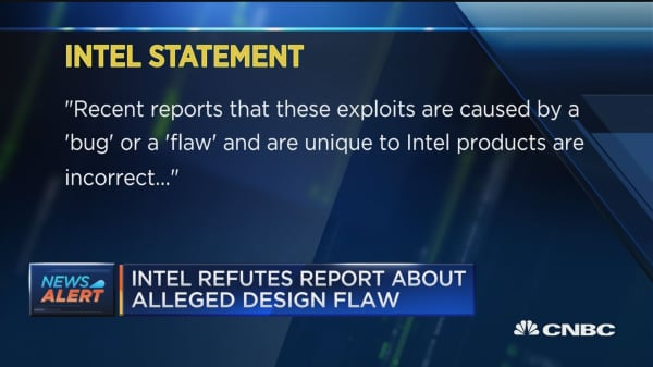 Intel refutes report about alleged design flaw