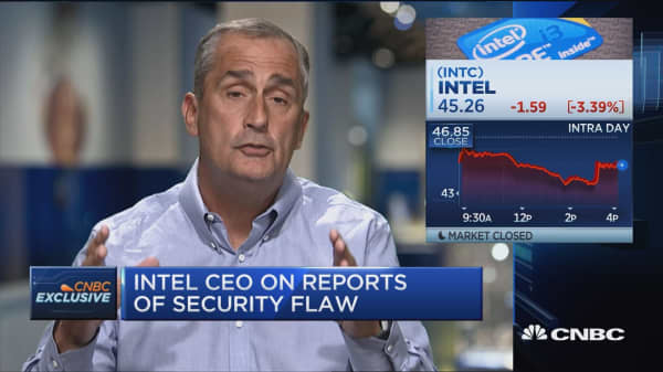 Intel CEO: Google researchers identified security issue
