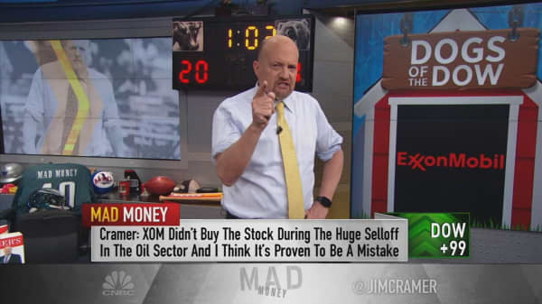 Cramer reviews the Dow's biggest winners and losers for 2017