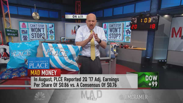 Cramer dubs Children's Place a 'fabulous' buy on weakness