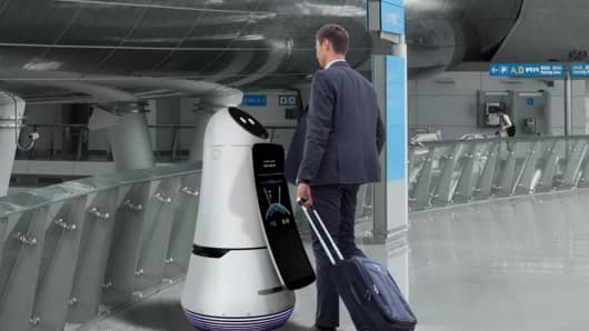 LG is rolling out series of robots to replace many service industry jobs.