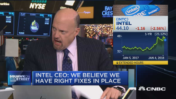 Cramer: AMD's CEO will 'take advantage' of Intel's security flaw fallout