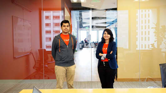 Tara Intelligence co-founders: CTO Syed Ahmed and CEO Iba Masood.