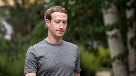 Mark Zuckerberg, chief executive officer and founder of Facebook in July 2017