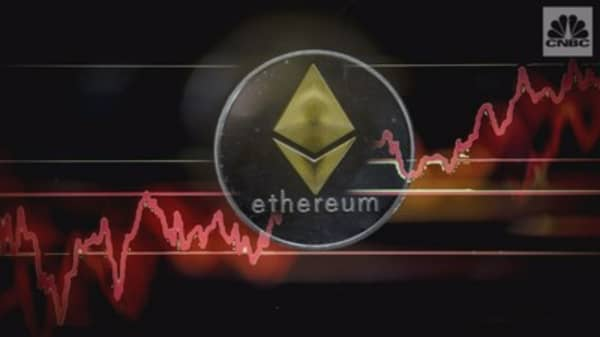 Ethereum topped $1,000 for the first time