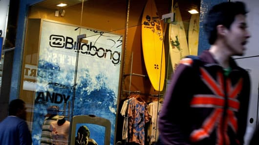 Billabong International profits cracked a 14 percent profit increase, 23 August 2004