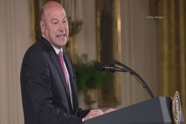 'I'm here today, and I'm here next week': Gary Cohn says description