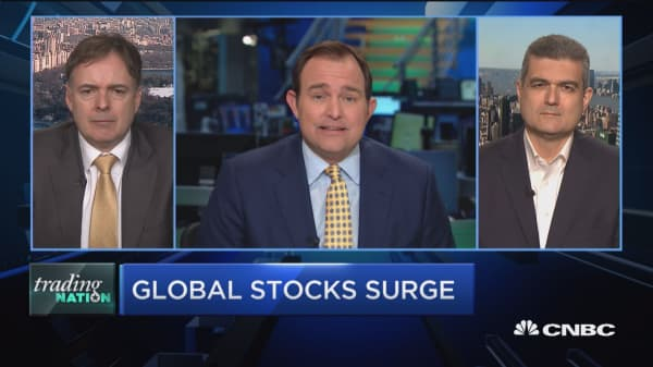 Trading Nation: Global stocks surge