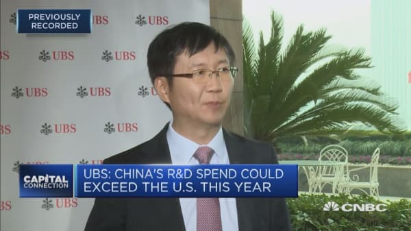 China has stepped up its R&D efforts