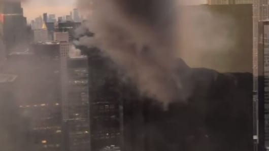 Fire breaks out on Trump Tower roof