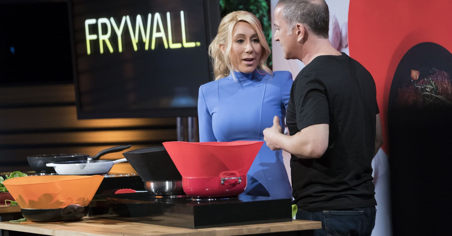 "Lori Greiner and Yair Reiner on ABC's ""Shark Tank."""