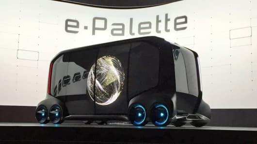 Toyota unveils e-Palette at CES, January 8, 2017.