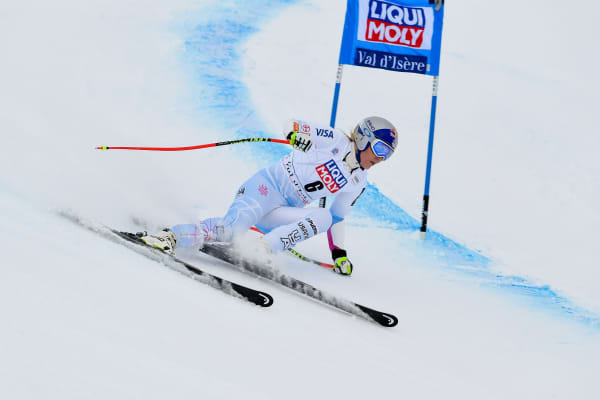 Lindsey Vonn of USA competes during the Alipine Ski World Cup Women's Super G on December 16, 2017 in France
