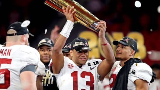 Alabama's freshmen stun Georgia to win 5th college football championship in 9 years