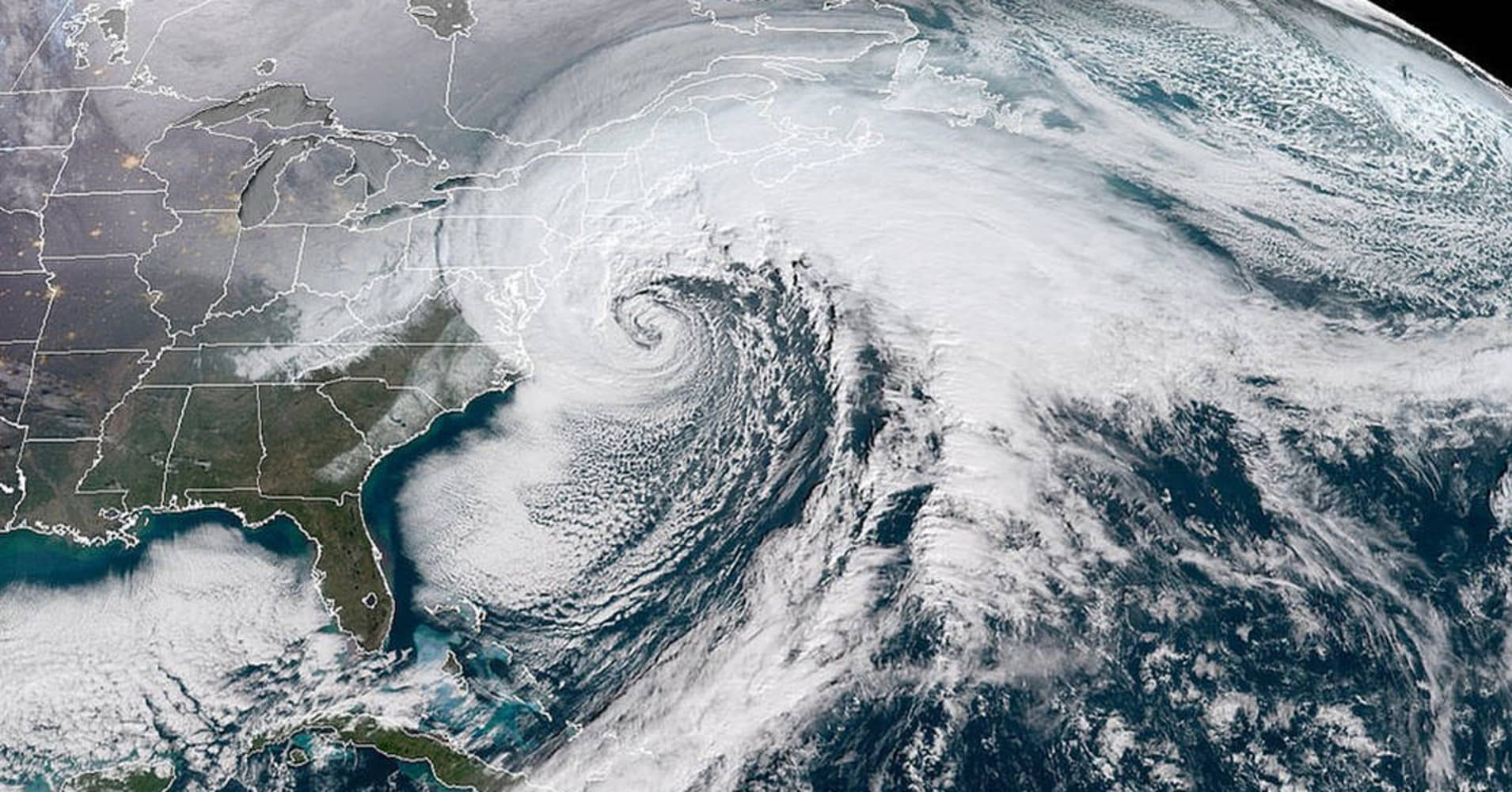 Nasa Pictures Of The Bomb Cyclone And Freezing