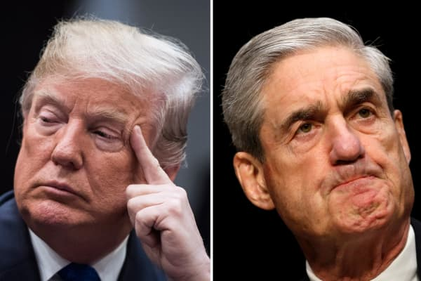 President Donald Trump and Special Counsel prosecutor Robert Mueller.