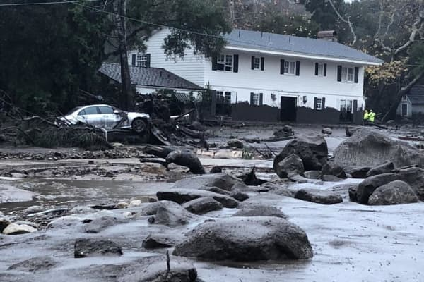 Devastation in the Montecito community after big winter storm Tuesday brought heavy rains and caused mudslides in areas near where the massive Thomas fire recently burned.