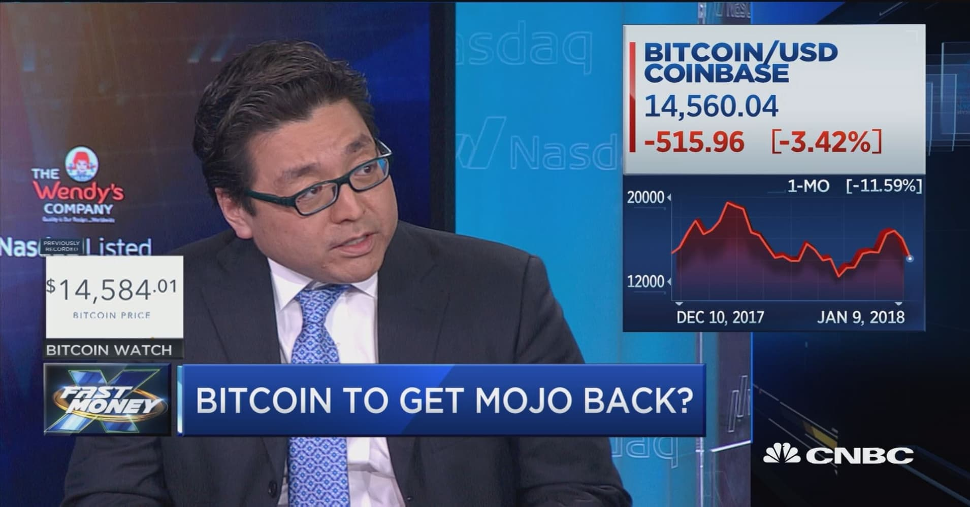 Tom Lee: Bitcoin is still 'king of the hill' of cryptocurrencies, could more than double in 2018