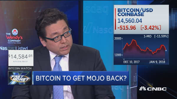 Tom Lee: Bitcoin is still the 'king of the hill' of cryptocurrencies, could more than double in 2018