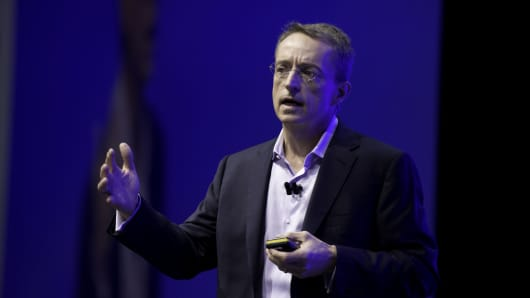 VMware CEO Pat Gelsinger at a 2017 company event.