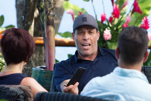 Tony Robbins mentors Cathryn Lavery and Allen Brouwer