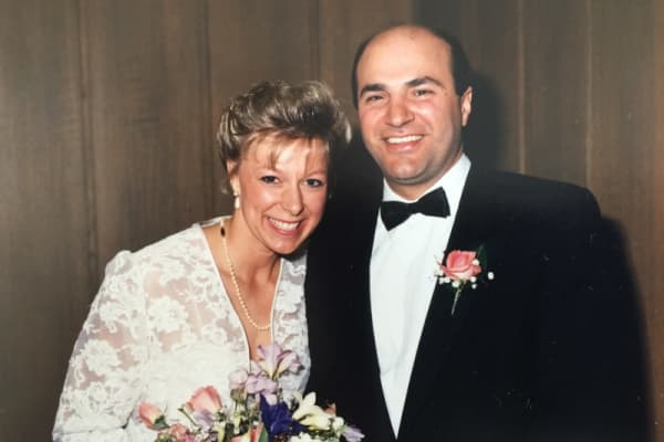 KevinO'Leary and his wife, Linda, on their wedding day more than 25 years ago.