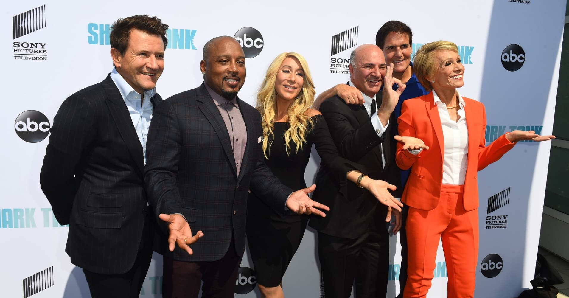 """Shark Tank"" stars Robert Herjavec, Daymond John, Lori Greiner, Kevin O'Leary, Mark Cuban, Babara Corcoran"