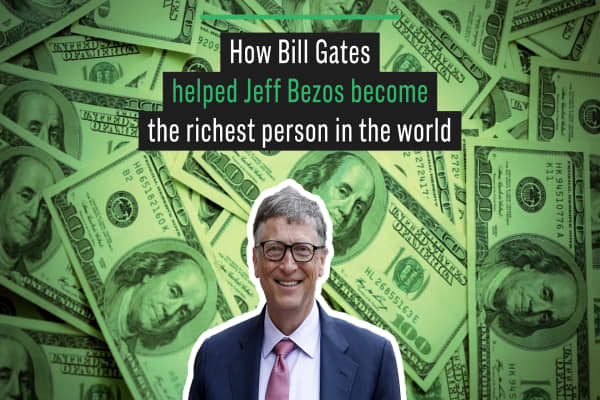 How Bill Gates helped Jeff Bezos become the richest person in the world