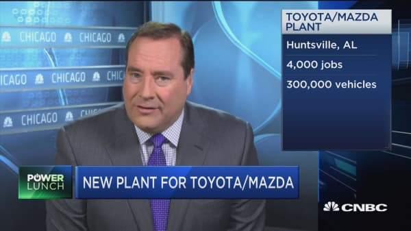 New plant for Toyota/Mazda in Alabama