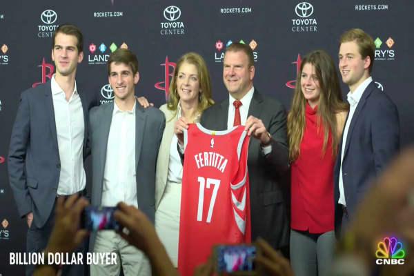 Houston Rocket's owner Tilman Fertitta explains how it feels to own his hometown sports team