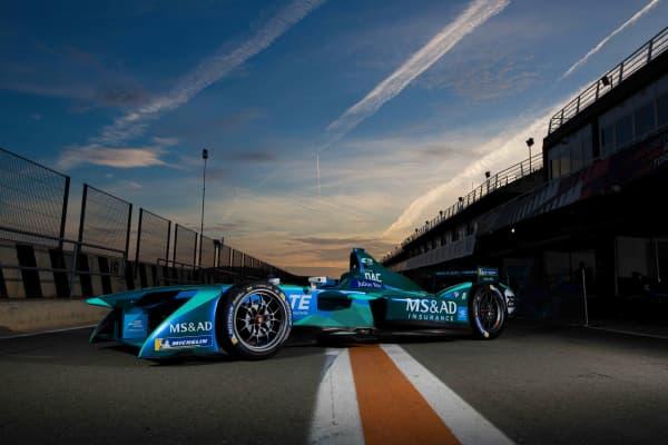 An MS&AD Andretti Formula E team racing car