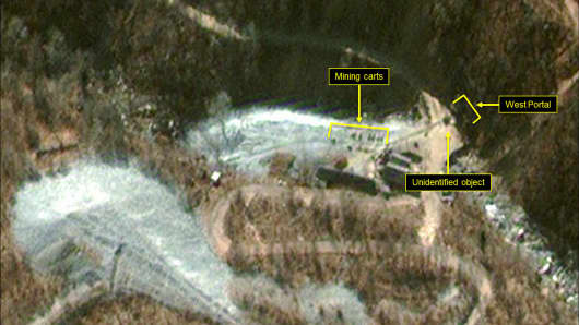 Punggye-Ri Nuclear Test Site, North Korea, including the West Portal.