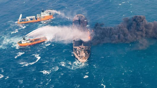Oil from sunken Iran tanker reached Japan shores