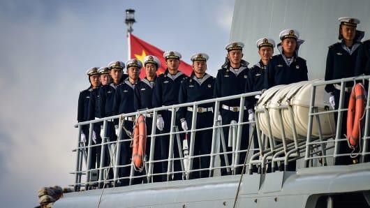 Chinese servicemen.