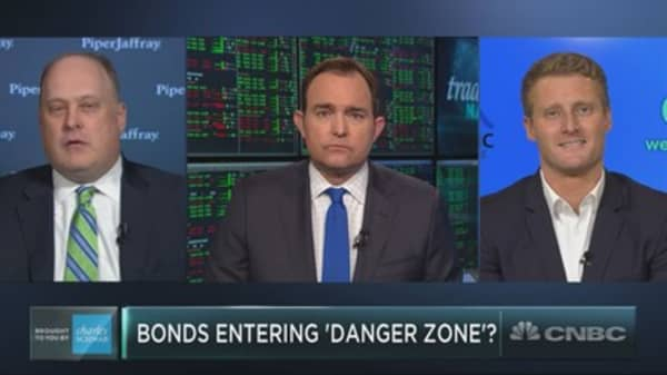Top technician says bonds are entering the 'danger zone,' and could soon weigh on stocks