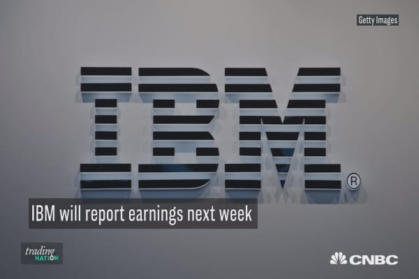 With earnings report next week, expect IBM to be a value play for 2018